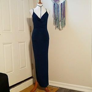 Dresses - Navy maxi dress